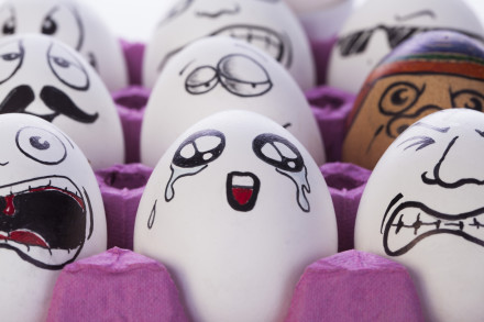 Funny Painted Eggs Emotions